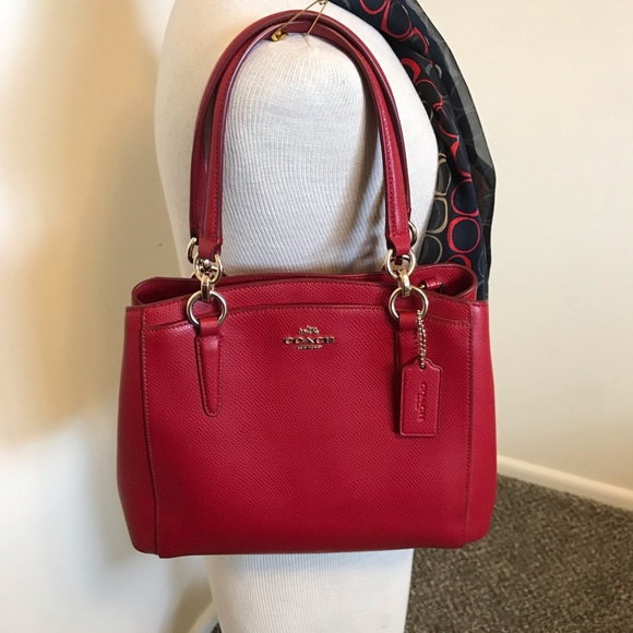Coach Bags   Red Leather Handbag   Poshmark f804b3bcd4